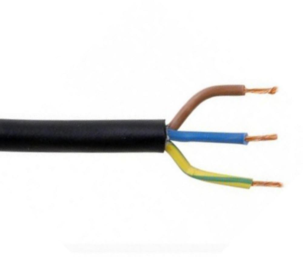 100M 1.5mm 15A 3 CORE MAINS CABLE - BLACK