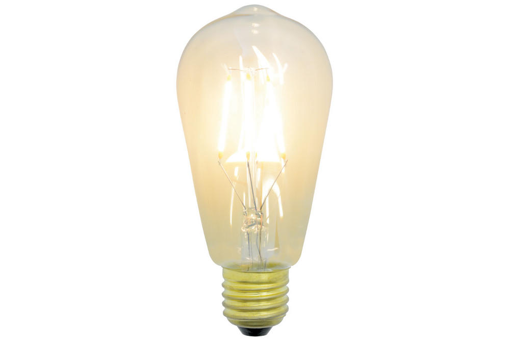 Vintage Decorative ST58 Filament LED Lamp with Amber Tinted Glass 4W Dimmable