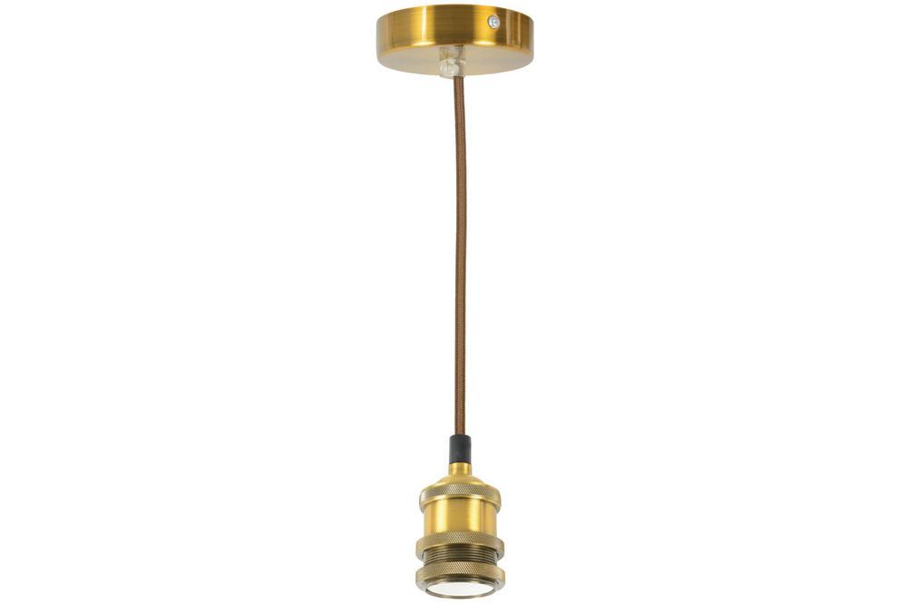 Vintage Decorative Single E27 Lighting Pendant Cordset Antique Gold