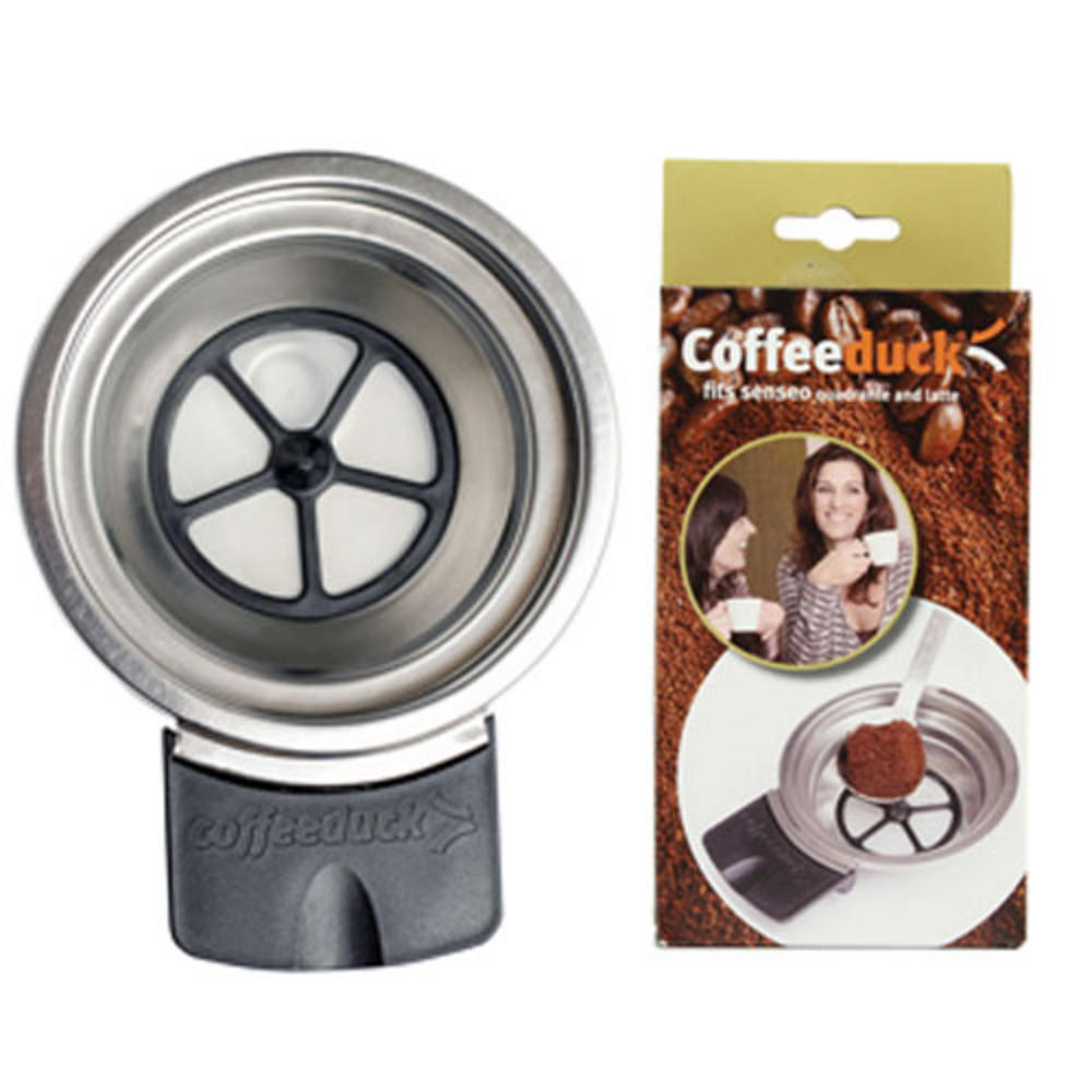 New Coffeeduck Refillable Pod For Senseo Quadrante Latte HD7850 HD7860 UK