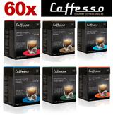 60 x Caffesso Nespresso Compatible Coffee Capsules Improved 6 Blend Variety Pack