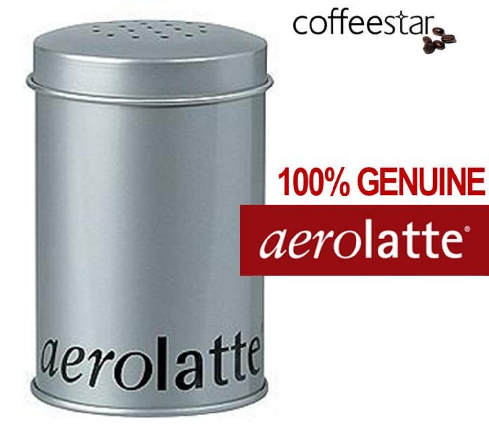 Aerolatte Chocolate Nutmeg Cinnamon Sprinkler Duster Tin for Cappuccino & Latte