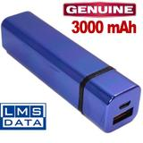3000MaH USB MOBILE POWER CHARGER - FITS EASILY IN POCKET OR HANDBAG BLUE