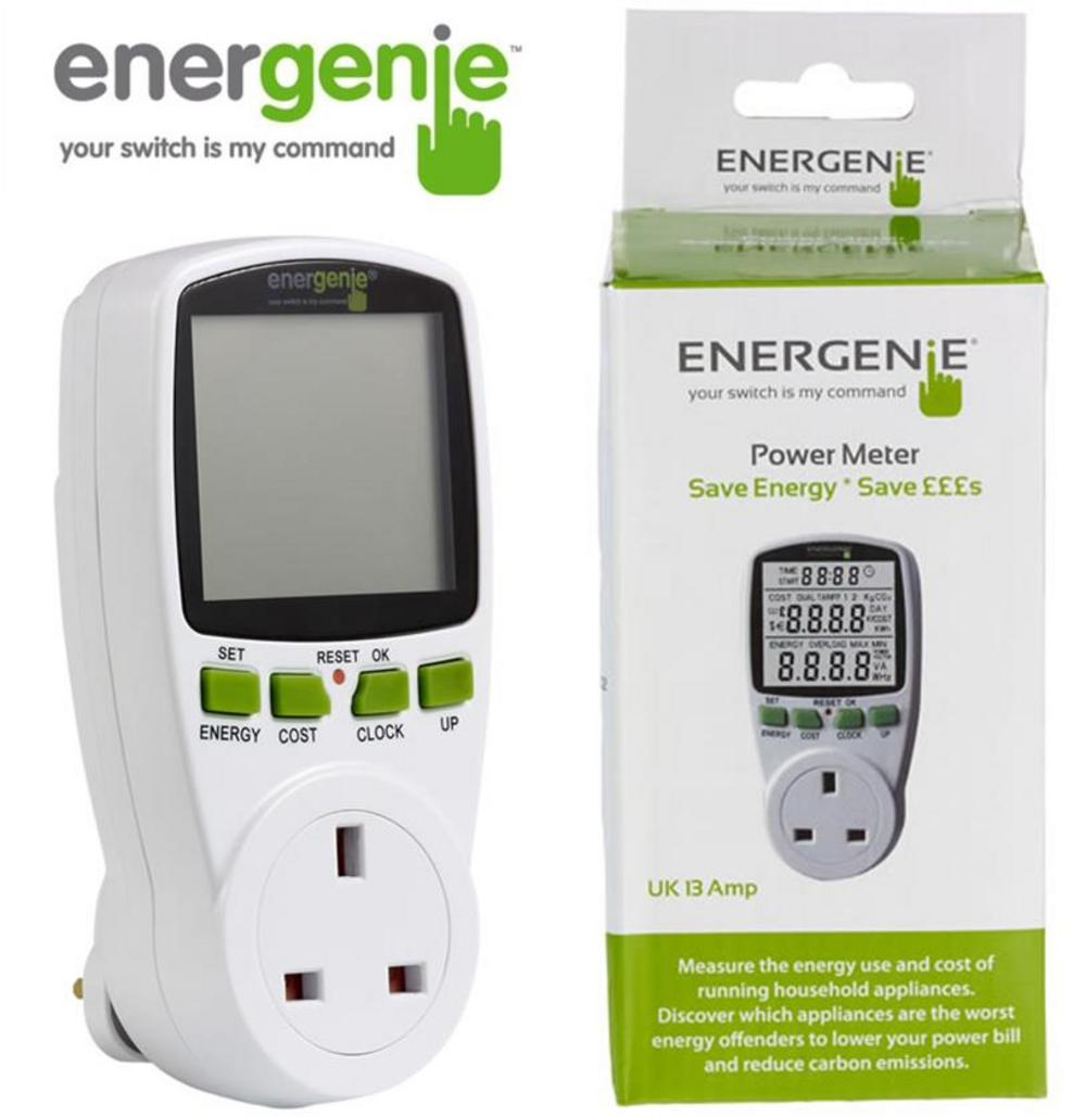 ENERGENIE Energy Saving Power Meter for any UK Household Appliance UK