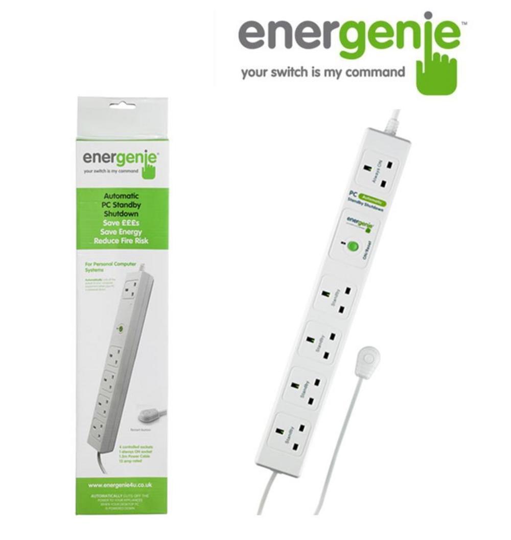 ENERGENIE 5 Gang UK Mains Extension with Automatic Standby Shutdown Shut Off UK