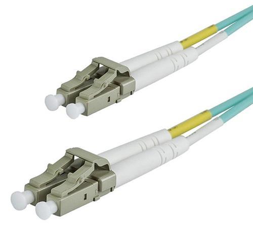 6 FeetOM3 50/125 LC to LC DLX 2.8mm FIBRE OPTIC DUPLEX PATCH  CABLE - AQUA UK