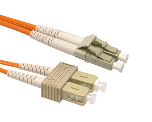 5M OM2 50/125 LC-SC DLX 2.8mm FIBRE OPTIC CABLE - ORANGE UK