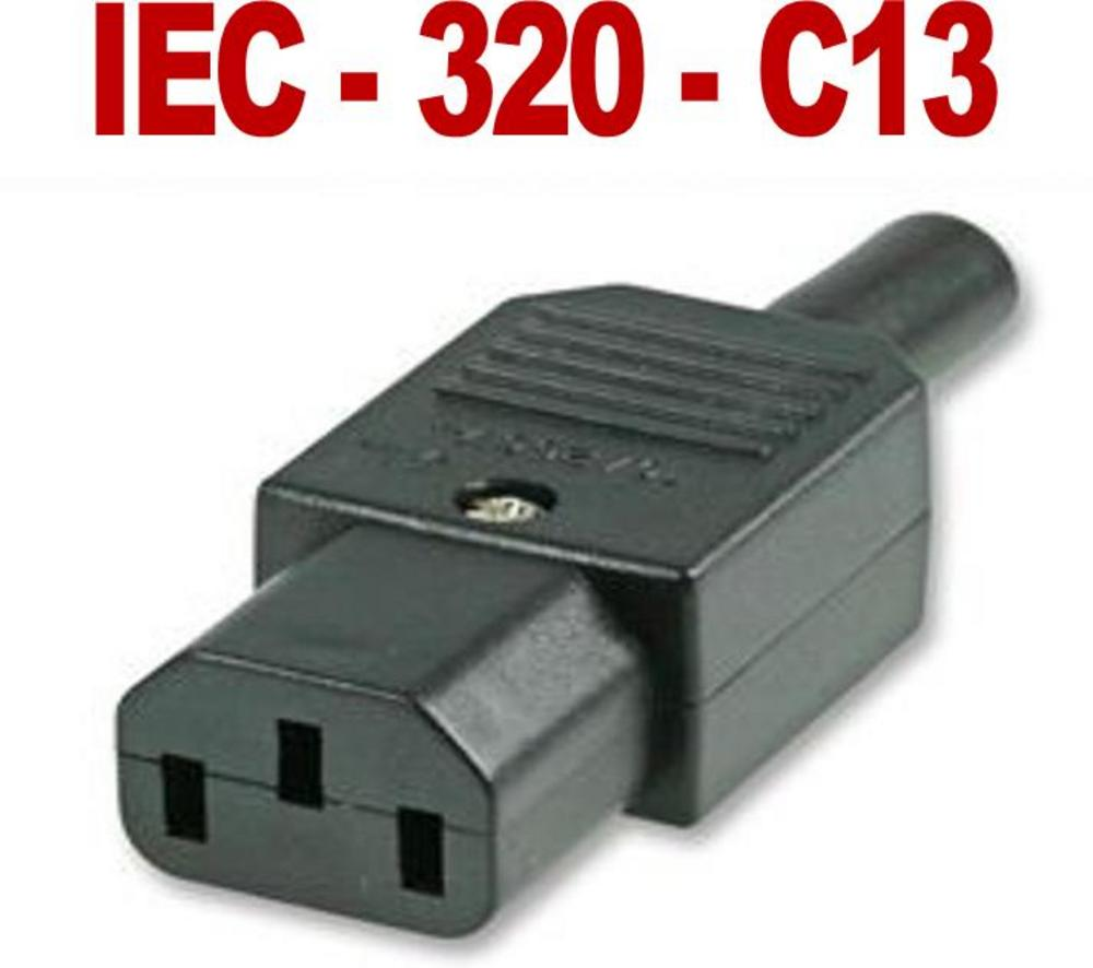 HIGH QUALITY 3 Pin Kettle Female Plug IEC Mains Connector C13 10A  UK