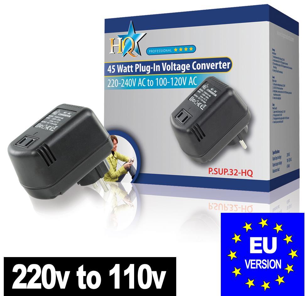 Step Down Voltage Converter 240V - 120V 110v 45W USA TO European EU ...