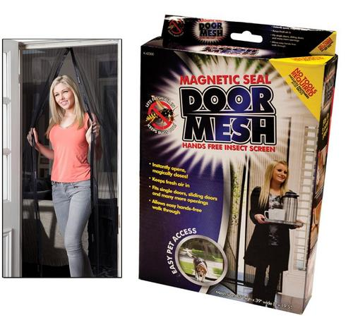 Magnetic Seal Door Mesh Insect Screen - protects from pests and keeps air fresh