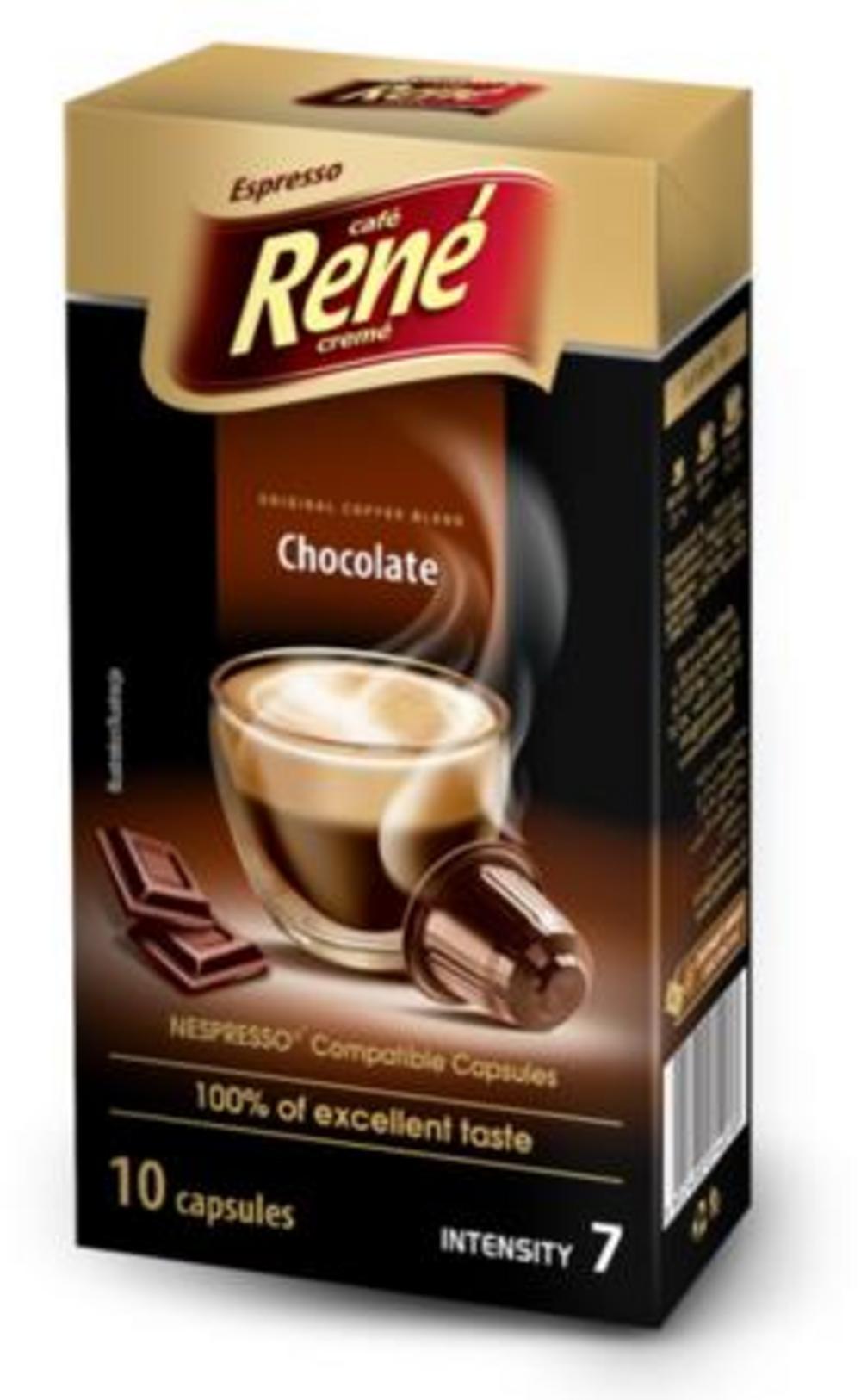 Café Rene Nespresso Compatible Capsules - Chocolade 10 Capsules
