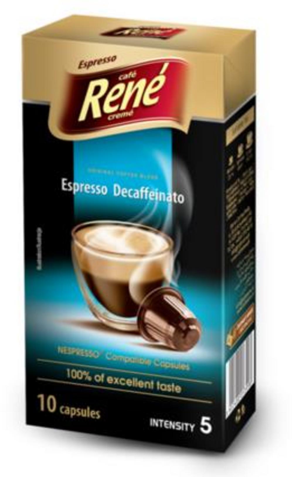 Café Rene Nespresso Compatible Capsules - Decaffeinato 10 Capsules