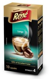 Café Rene Nespresso Compatible Capsules - Lungo 10 Capsules