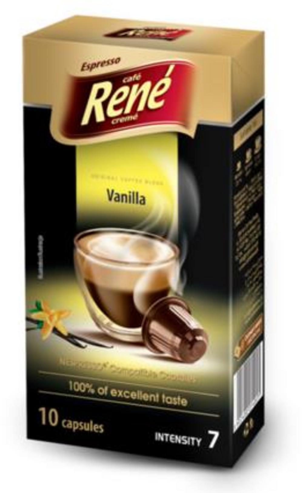 Café Rene Nespresso Compatible Capsules - Vanilla 10 Capsules