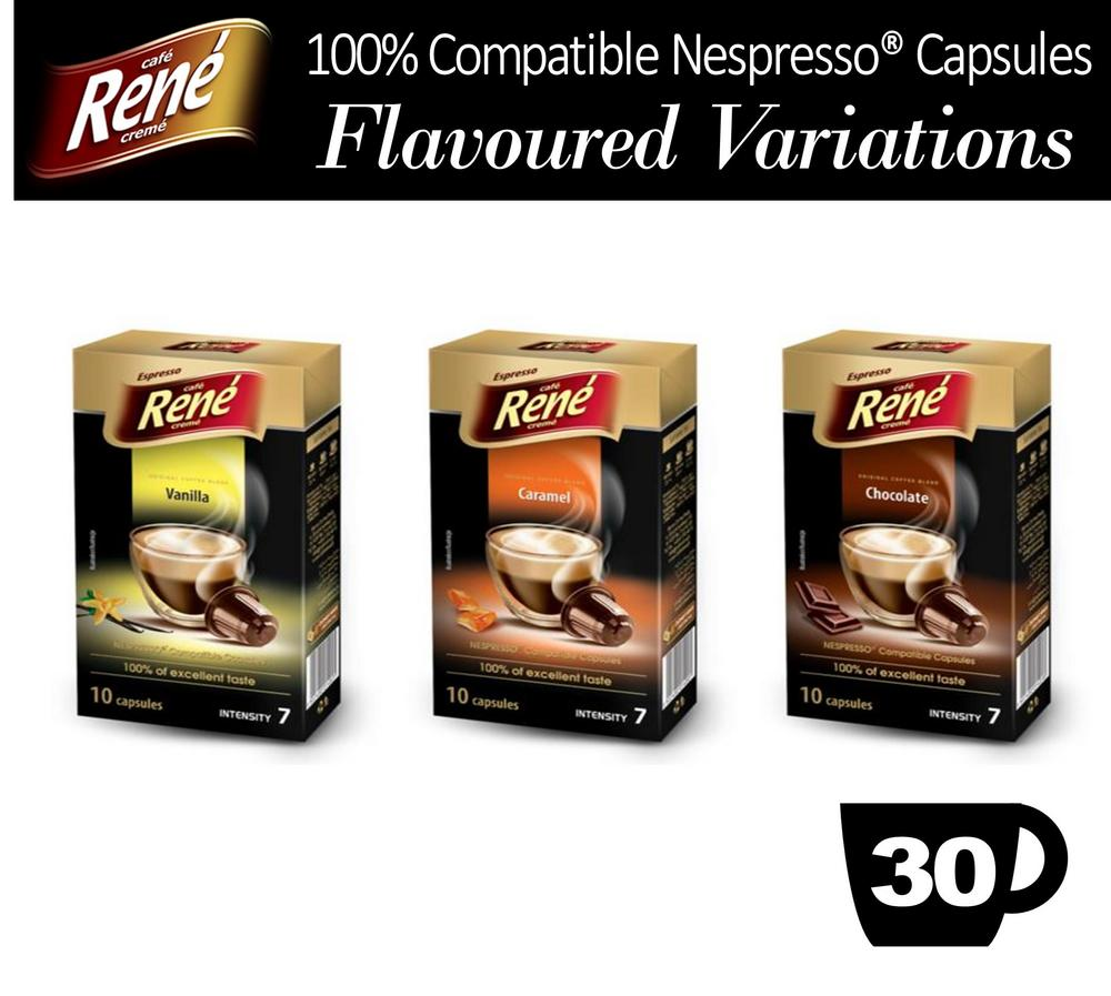 30x Nespresso Compatible Variations Coffee Capsules - Vanilla Caramel Chocolate