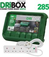 Outdoor Waterproof Dri Box Electric Enclosure + 4 Gang UK Surge Plug Strip
