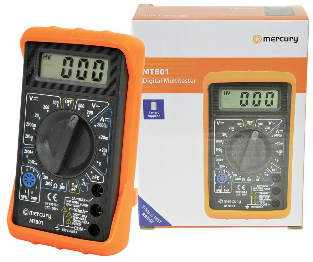 Mercury Digital LCD Multimeter Voltmeter Ammeter AC DC OHM Circuit Checker Test