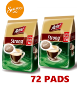 Philips Senseo 72 x Cafe Rene Cremé Strong Dark Roast Coffee Pads Bags Pods