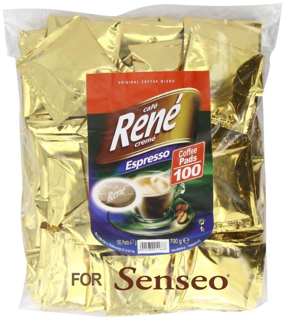 Philips Senseo 100 x Café Rene Crème Espresso Coffee Pads Bags Pods