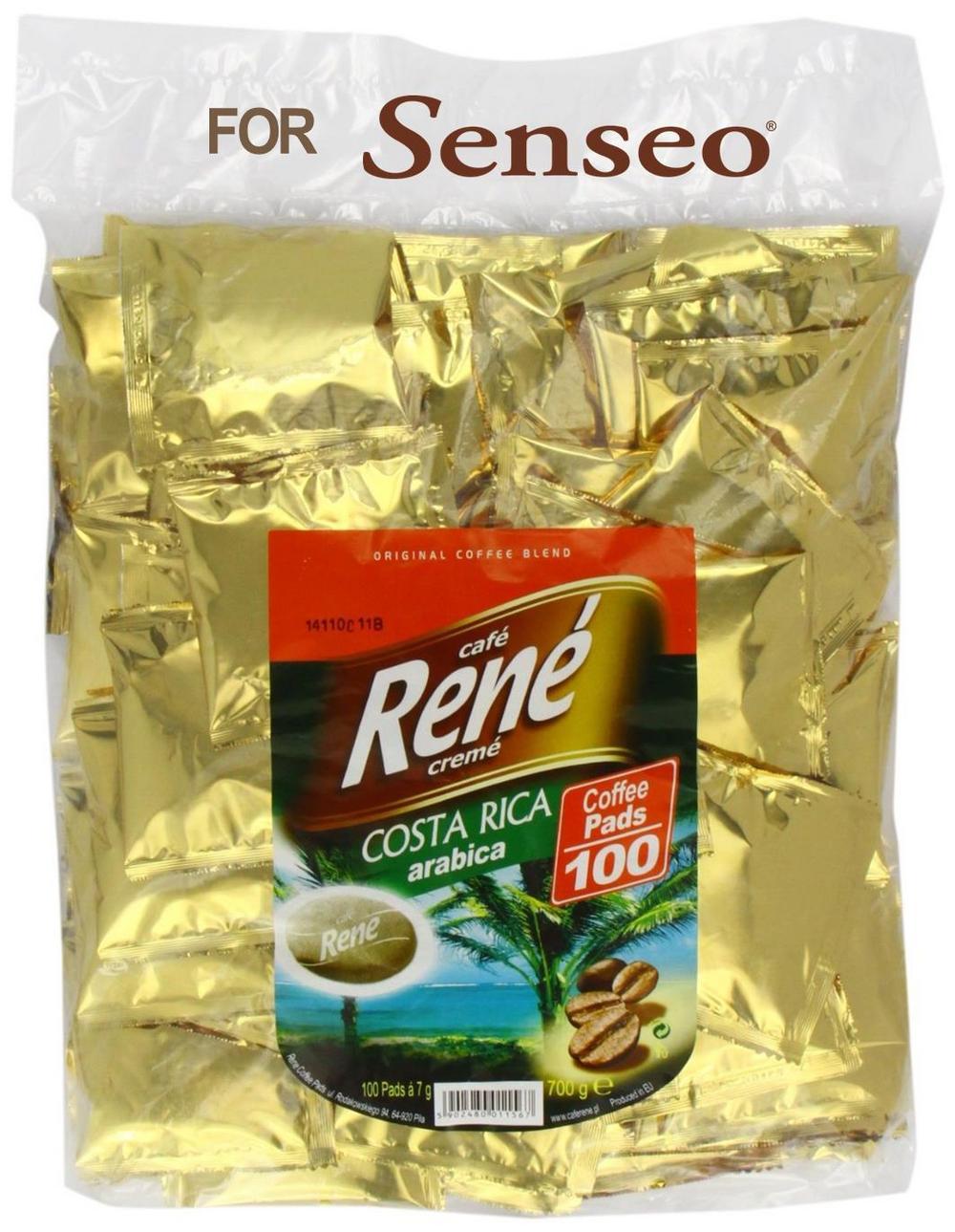 Philips Senseo 100 x Café Rene Crème Costa Rica Coffee Pads Bags Pods