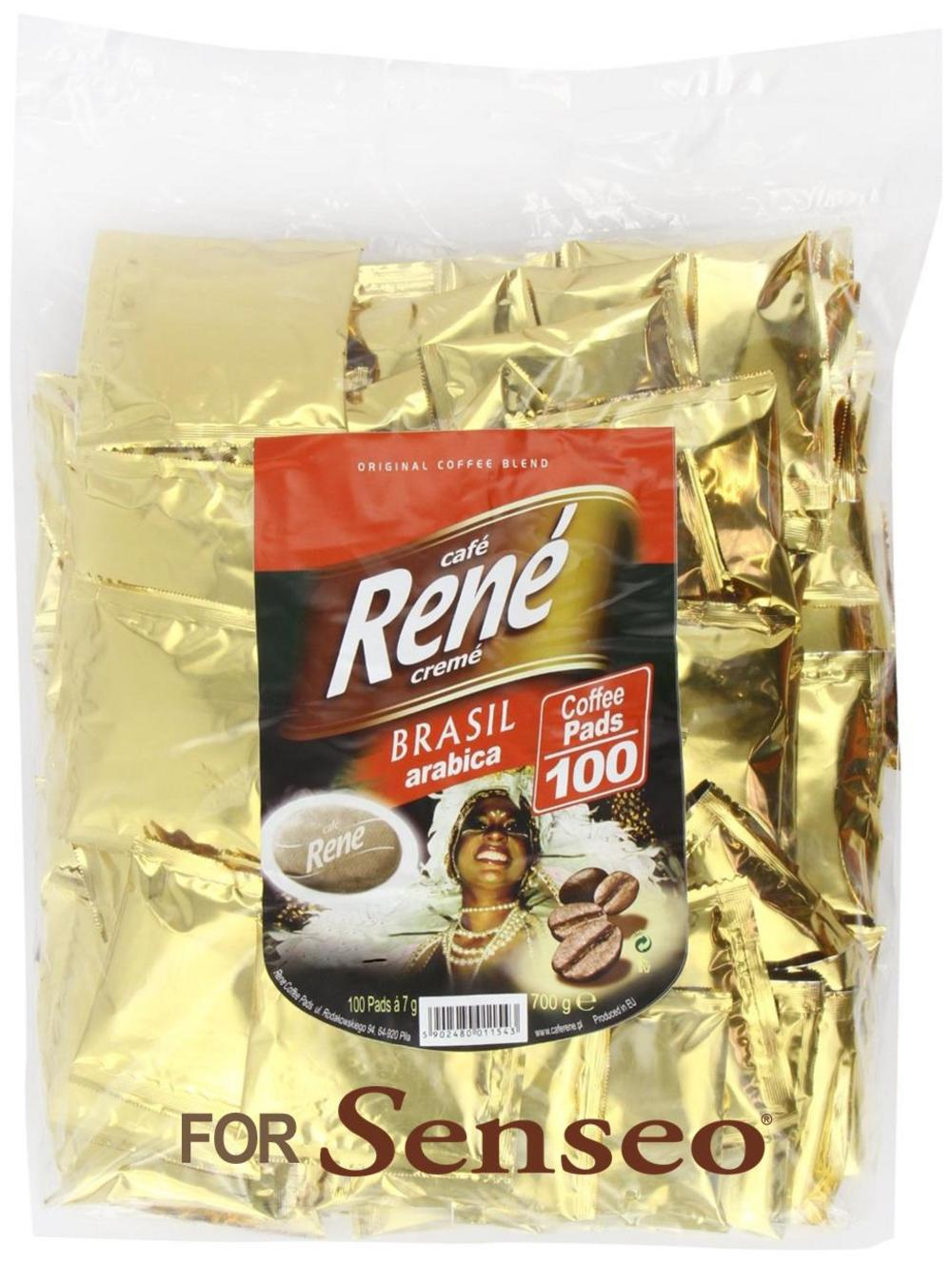 Philips Senseo 100 x Café Rene Crème Brasil Coffee Pads Bags Pods