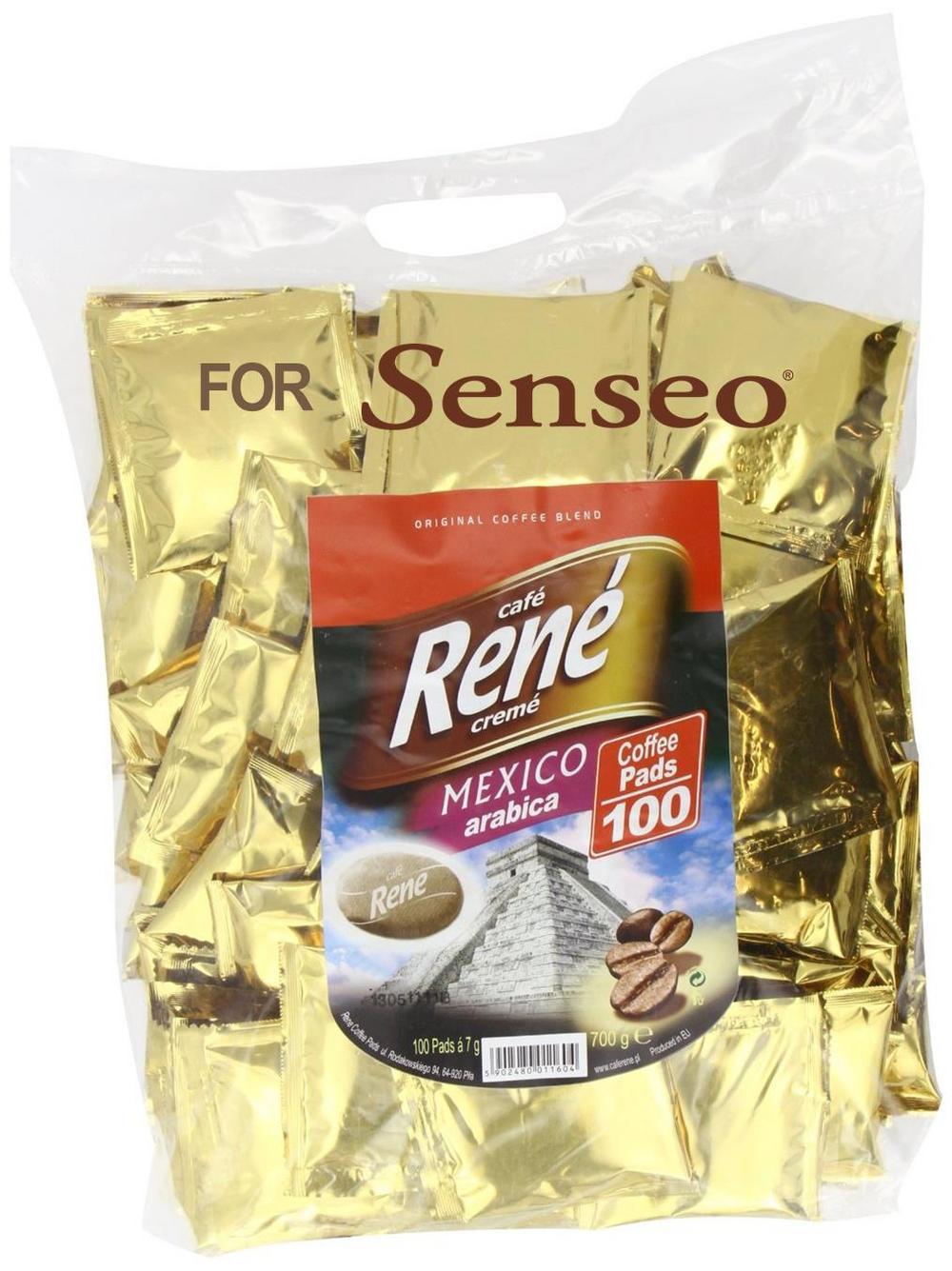 Philips Senseo 100 x Café Rene Crème Mexico Coffee Pads Bags Pods