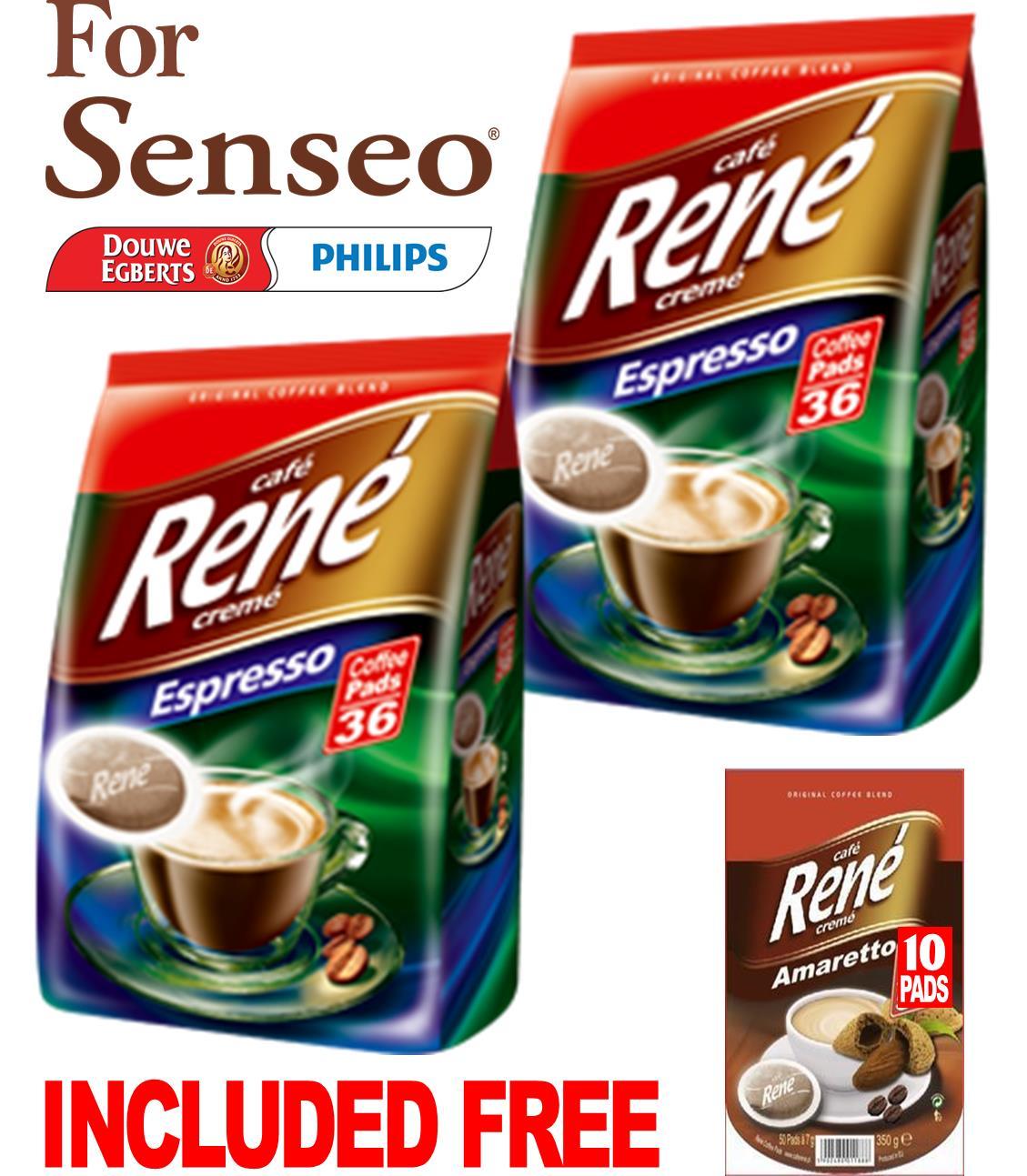 philips senseo 72 x cafe rene crem espresso roast coffee pads pods bags caf rene computer star. Black Bedroom Furniture Sets. Home Design Ideas