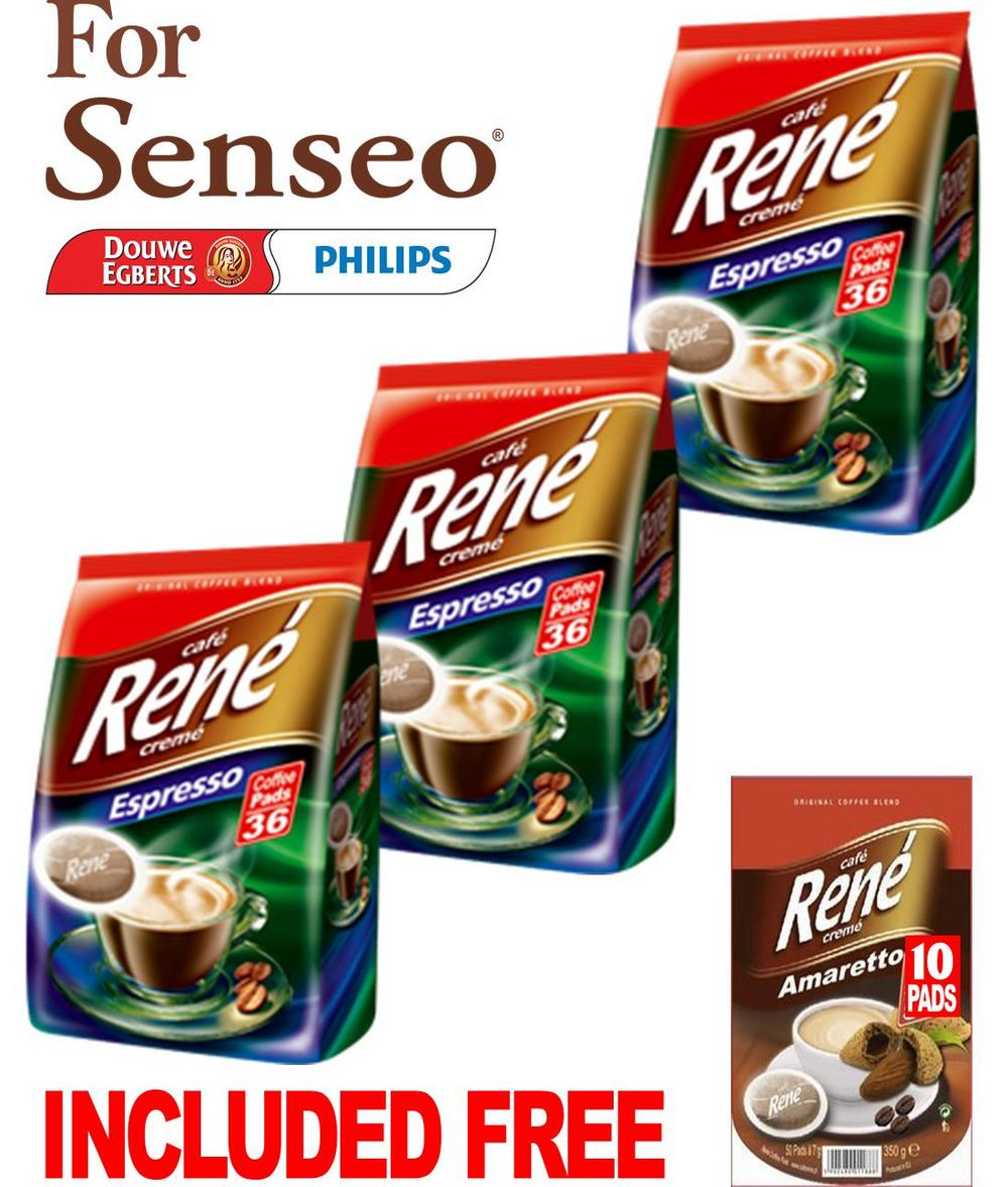 philips senseo 108 x cafe rene crem espresso roast coffee. Black Bedroom Furniture Sets. Home Design Ideas
