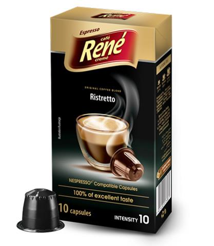 caf rene nespresso compatible capsules ristretto 10 capsules caf rene computer star. Black Bedroom Furniture Sets. Home Design Ideas