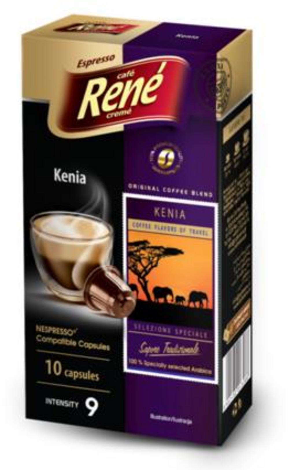 Café Rene Nespresso Compatible Capsules - Kenia 10 Capsules