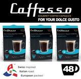Caffesso Americano Dolce Gusto Machine Compatible 48x Capsules Pods
