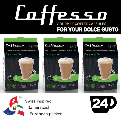 Caffesso Cappucinno Dolce Gusto Machine Compatible Capsules Pods 24x Servings