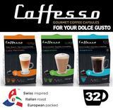 Caffesso Americano Cappucinno Latte Dolce Gusto Machine Compatible 32x Servings