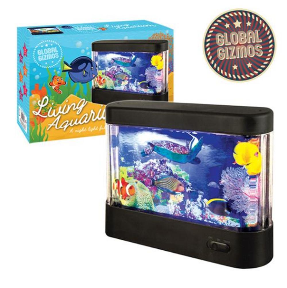 Global Gizmos Moving Living Aquarium LED Table Lamp Nightlight