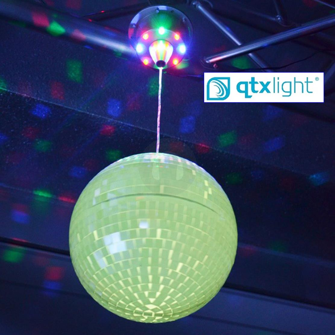 Glowing Colour Changing 20cm Rotating Mirror Ball Disco Party With Led Motor