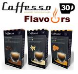 30x Nespresso Compatible Flavoured Coffee Capsules - Vanilla Caramel Chocolate