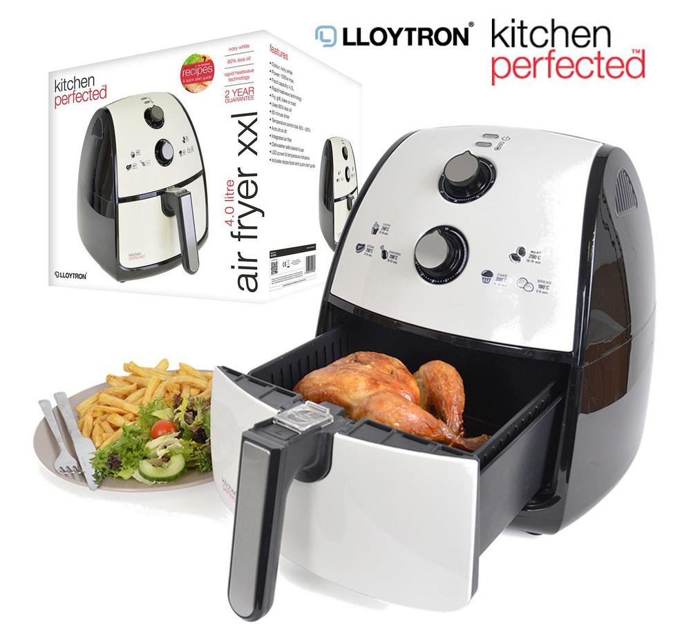 Lloytron 4.0 Litre Air Fryer XXL Simple Healthy Oil Free Cooking - Ivory White