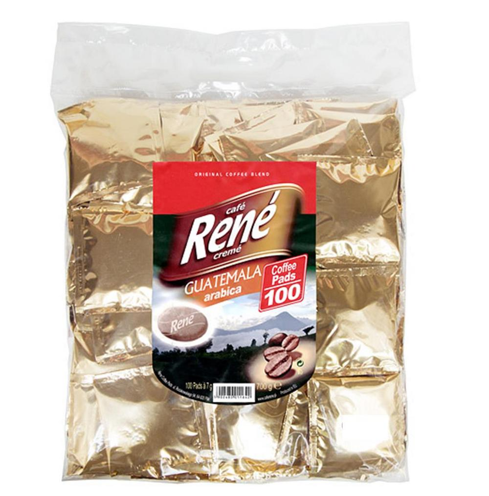 Philips Senseo 100 x Café Rene Crème Guatemala Arabica Coffee Pads Bags Pods