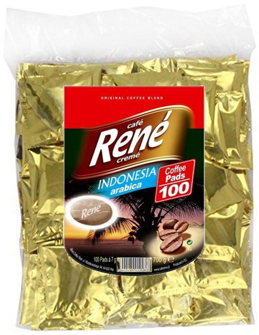 Philips Senseo 100 x Café Rene Crème Indonesia Java 100% Arabica Coffee Pads Bags