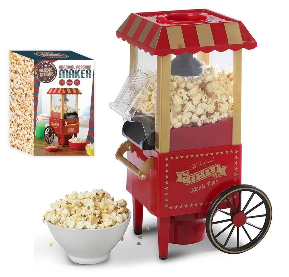 Retro Fairground Popcorn Maker - No Oil Healthy Popcorn & All The Fun of a Fair