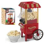 Retro Fairground Popcorn Maker - No Oil Healthy Popcorn & All The Fun of a Fair
