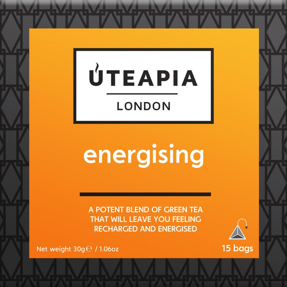 UTEAPIA LONDON Energising Green Tea - 15 Tea Temples