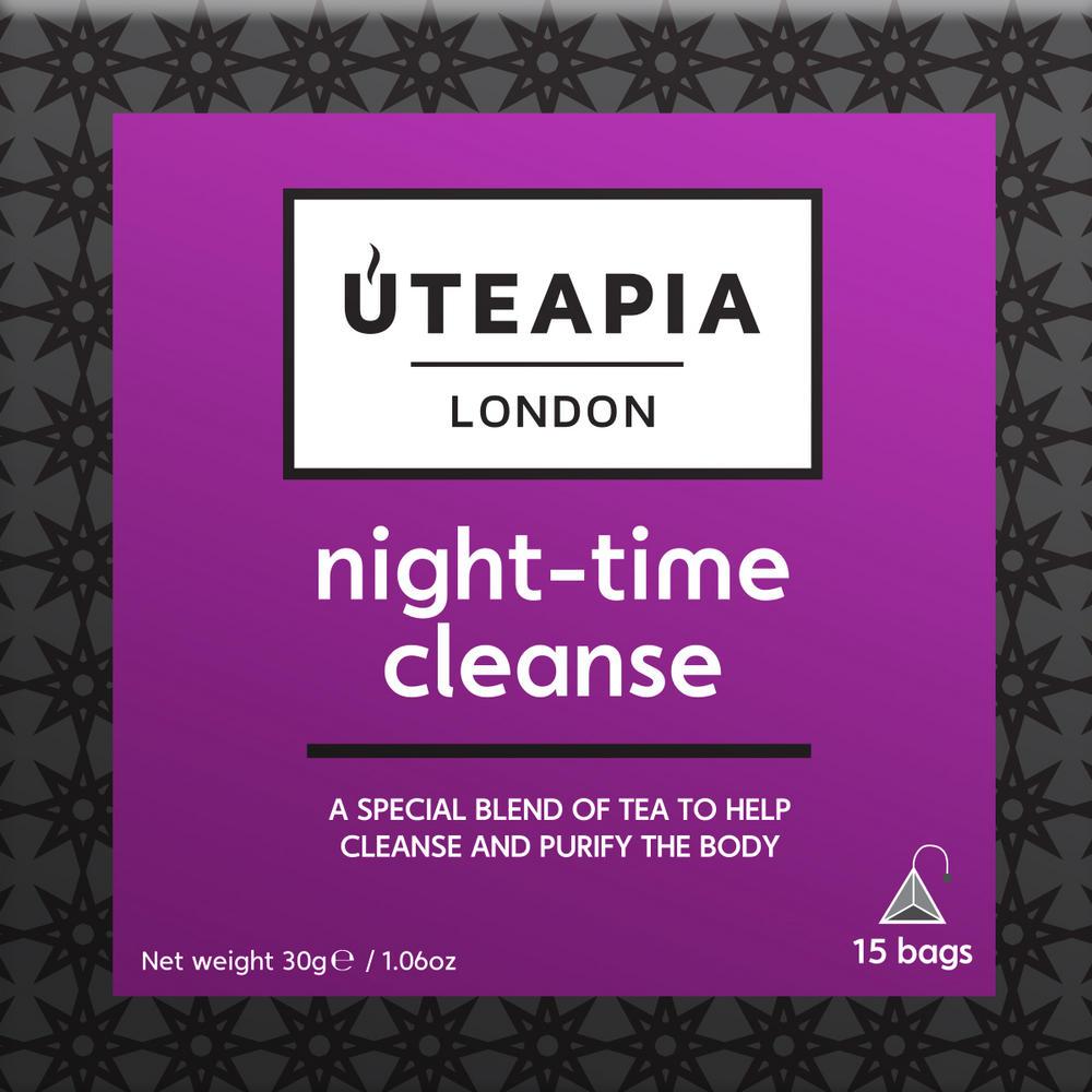 UTEAPIA LONDON Night Time Cleanse Purifying Tea - 15 Tea Temples