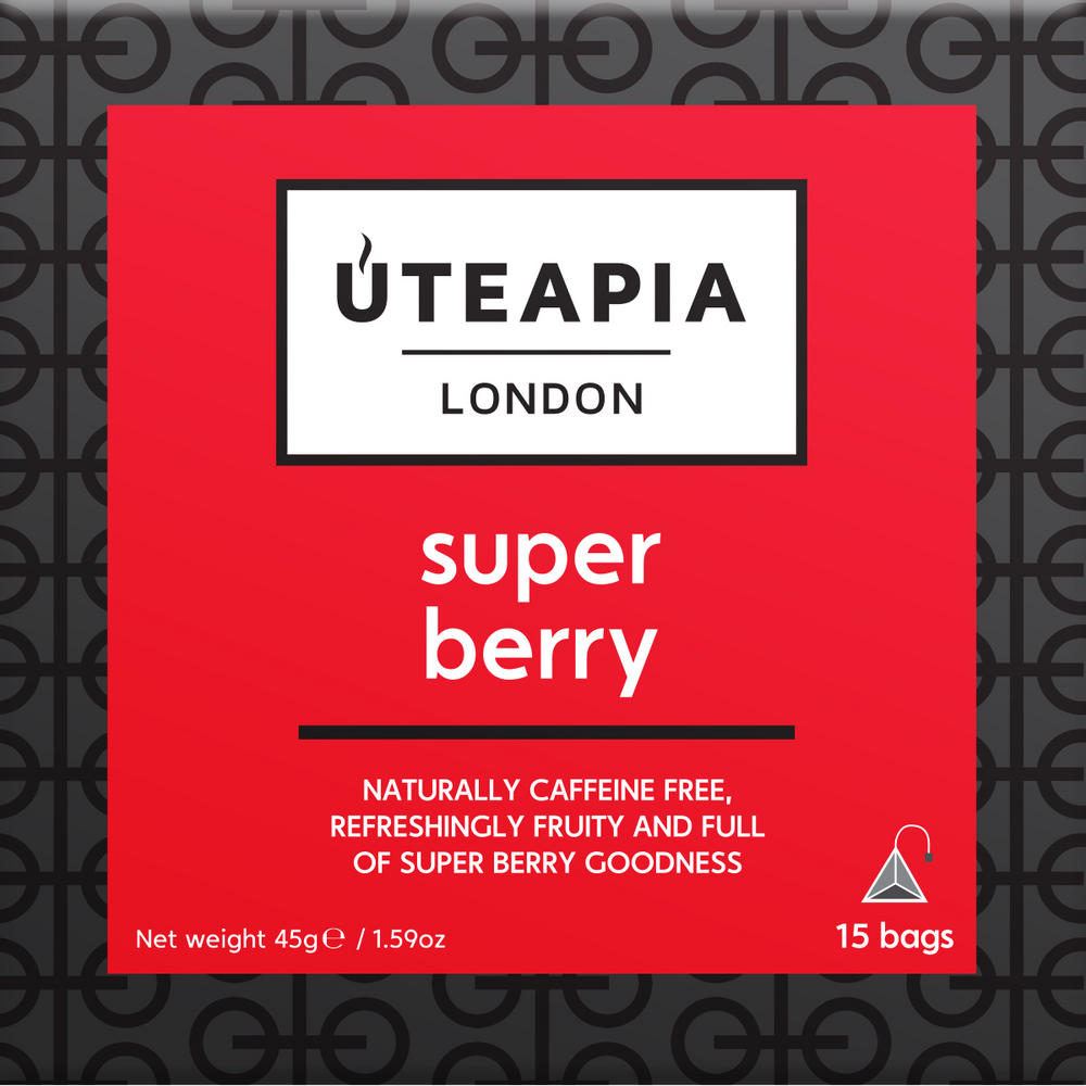 UTEAPIA LONDON Super Berry Caffeine Free Tea - 15 Tea Temples