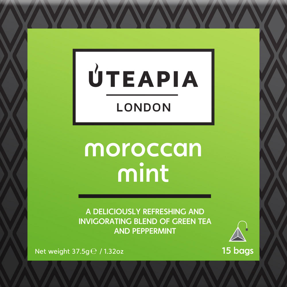UTEAPIA LONDON Morrocan Mint Green Tea - 15 Tea Temples