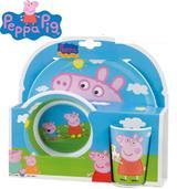 PEPPA PIG 3 Piece Melamine Meal Time Dinner Set