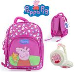 PEPPA PIG Padded Backpack Rucksack with Embroidered Earmuffs Official & Licensed