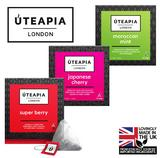 UTEAPIA LONDON 3 Unique Tea Blends - Super Berry, Japanese Cherry, Moroccan Mint
