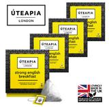 UTEAPIA LONDON 60 x Strong English Breakfast Tea ~ A Bright, Malty Intense Brew