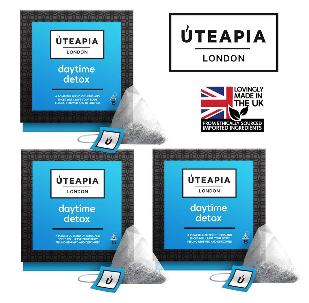 UTEAPIA LONDON Daytime Detox Natural herbs to Cleanse Your Body - 45 Tea Temples